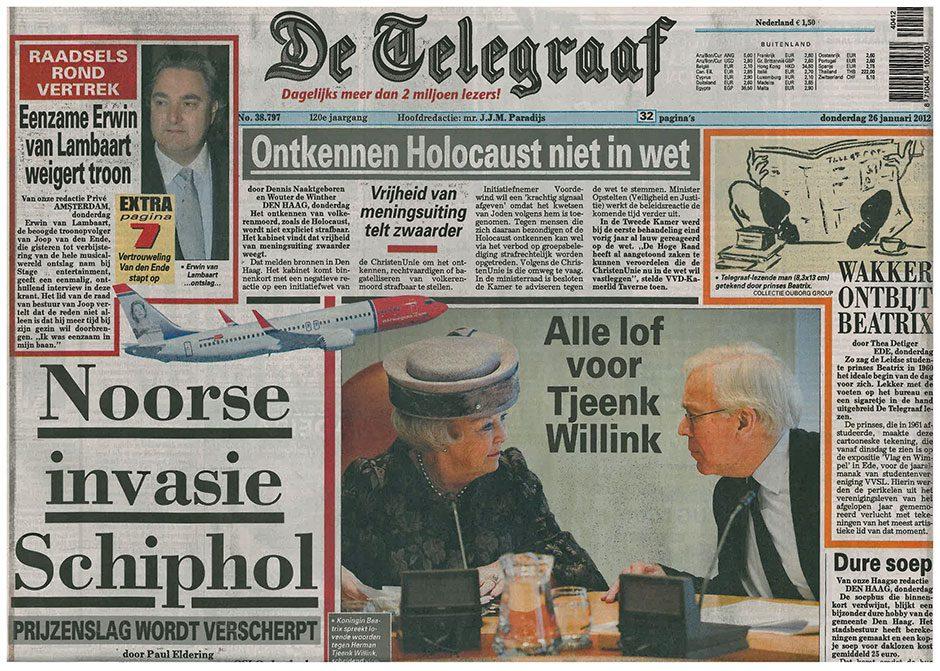 De Telegraaf, 26 januari 2012.