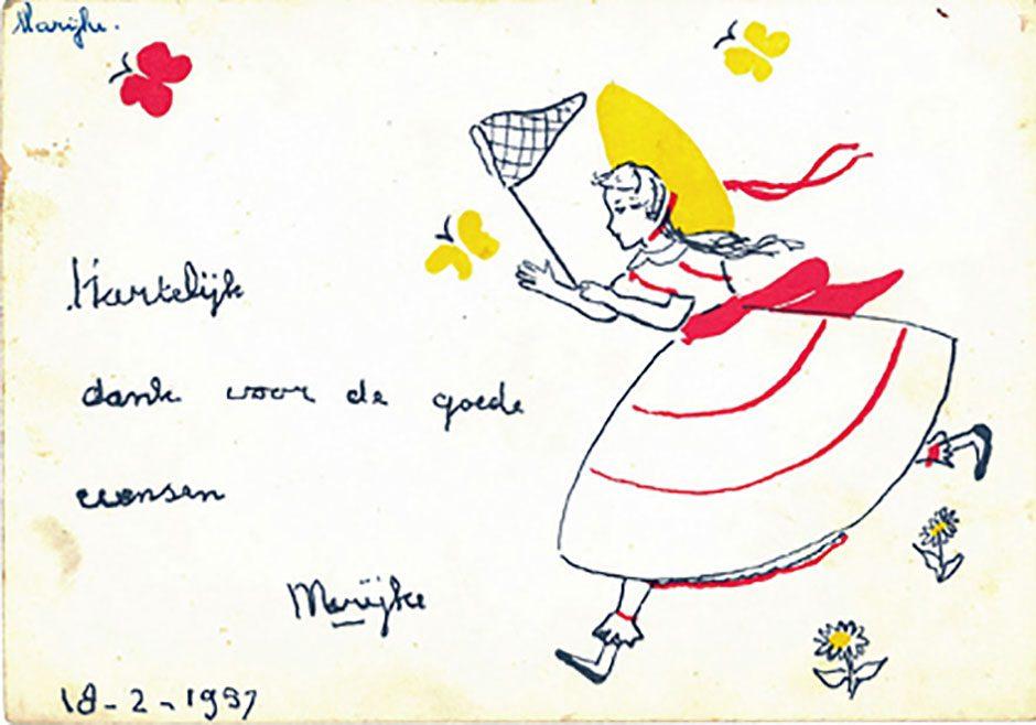 Op de tentoonstelling worden ook enkele tekeningen getoond van de andere prinsesjes.
