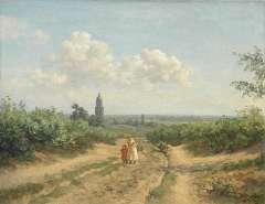Tholen W.B. - Landschap bij Rhenen, olieverf op doek 70,5 x 90,4 cm , gesigneerd r.o. en te dateren ca. 1917-1918