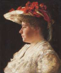 Borgord M. - Portret van mevrouw A. SInger-Brugh, olieverf op doek 55,2 x 46 cm , gesigneerd l.b.