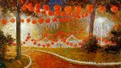 Bieling H.F. - Kermis in Hillegersberg, olieverf op doek 33,3 x 53,3 cm , gesigneerd r.o. en gedateerd 1913