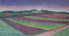 Louber L.M. - Rye fields, Blaricum, oil on canvas 38,4 x 73.2 cm, r.o. and dated '21