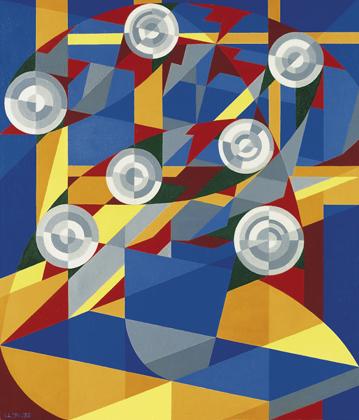 Louber L.M. - Herfst, olieverf op doek 75,2 x 65,3 cm , l.o. met initialen en gedateerd '51-'52
