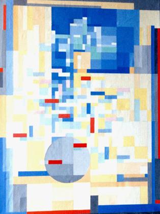 Louber L.M. - Bloemen in interieur, olieverf op doek 99 x 74 cm , gesigneerd l.o. met initialen en gedateerd '99