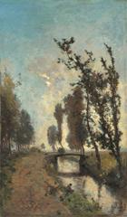Gabriel P.J.C. - Morgennevel, olieverf op doek 60,5 x 35,9 cm , gesigneerd r.o.