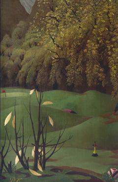 Koch P.F.Ch. - Golflinks I-II, olieverf op doek 30,3 x 20,2 cm, gesigneerd l.o. met initialen