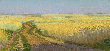 Breman A.J. - Zandweg door de Eng, Blaricum, olieverf op doek 26,2 x 55 cm, gesigneerd r.o. en gedateerd 1904