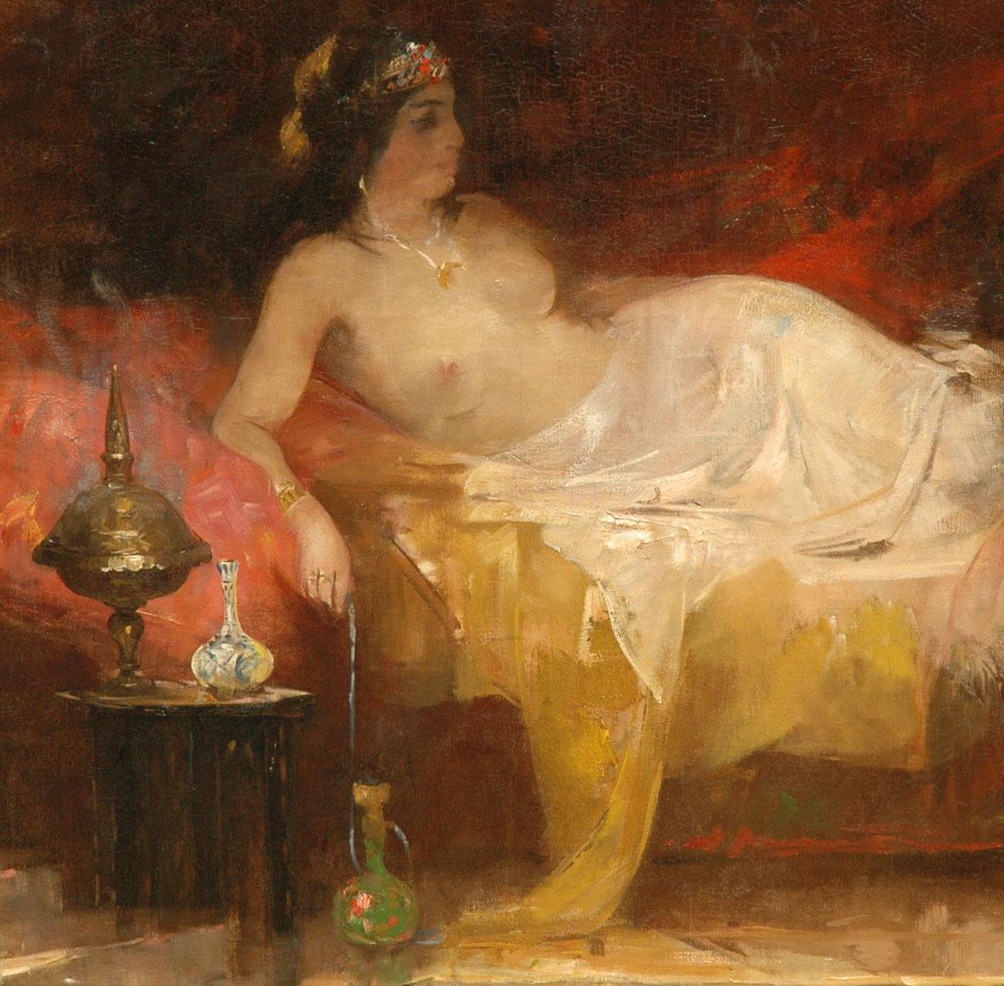 Smith H. - Odalisk, olieverf op doek 100,4 x 100 cm