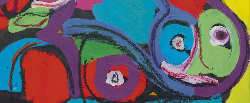 Schilderijen te koop aangeboden van kunstenaars uit de kunststromingen Na-oorlogse abstracte kunst en CoBrA, door de schilders Karel Appel, Constant, Lucebert, Corneille, Eugène Brands, Theo Wolvecamp, Anton Rooskens, Lindström, Armando, Gerrit Benner, César Domela, Cees van Bohemen, Jef van Diederen, Ger Lataster, Frida Hunziker, Cole Morgan, Jaap Nanninga, Piet Ouborg, Jaap Wagemaker