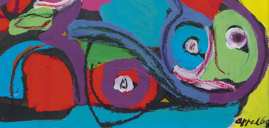 Paintings for sale from the art movements Post-War Abstract Art and CoBrA by the artists Karel Appel, Constant, Lucebert, Corneille, Eugène Brands, Theo Wolvecamp, Anton Rooskens, Lindström, Armando, Gerrit Benner, César Domela, Cees van Bohemen, Jef van Diederen, Ger Lataster, Frida Hunziker, Cole Morgan, Jaap Nanninga, Piet Ouborg, Jaap Wagemaker