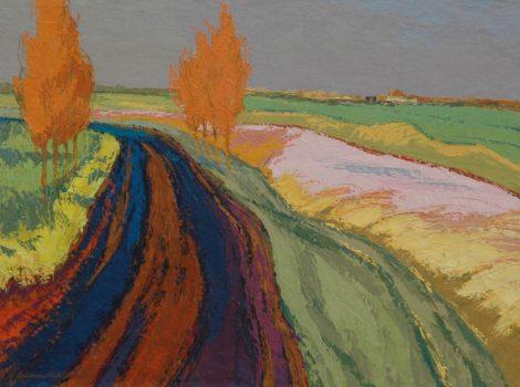 Vries J. de - Gronings landschap, olieverf op doek 60,2 x 80 cm, gesigneerd l.o. en te dateren jaren '50-'60