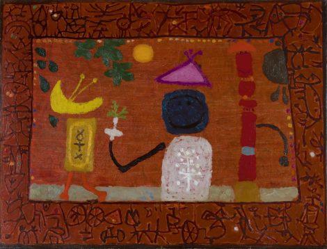 Roëde J. - Compositie 1963, olieverf op doek 46,8 x 61,8 cm, gesigneerd r.o. en gedateerd '63
