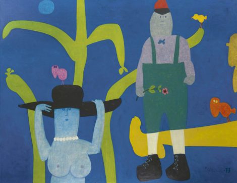 Roëde J. - Handjes mamma, olieverf op doek 112 x 144 cm, gesigneerd r.o. en op spieraam en gedateerd '69-73