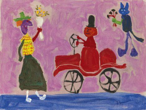 Roëde J. - Au Mexique, olieverf op doek 46 x 60,5 cm, te dateren 1966
