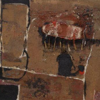 Naoorlogse abstracte moderne schilderijen kopen