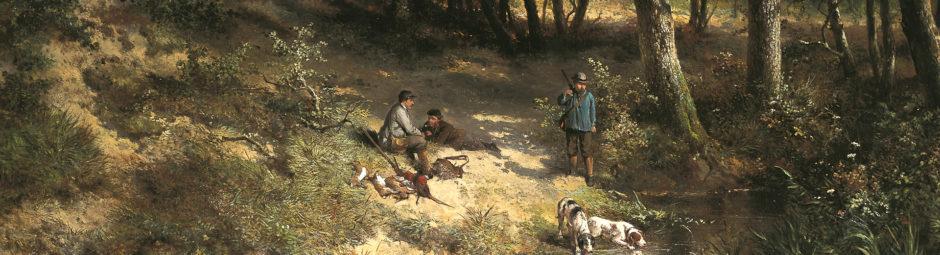 schilderij Jachttafereel te koop