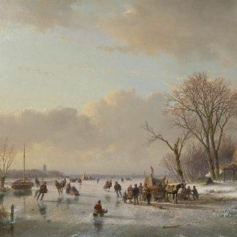 Andreas Schelfhout IJsgezicht Schilderijen kopen