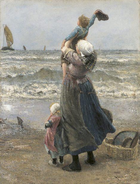 Bernard Blommers - Dag Vader, olieverf op doek 76,0 x 58,2 cm , gesigneerd rechtsonder
